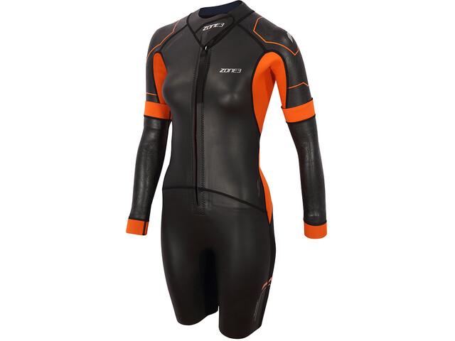 Zone3 Versa Swimrun Wetsuit Women, negro/naranja
